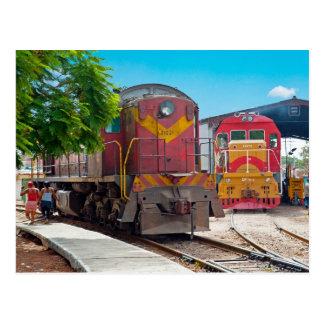 2 diesellocomotives ポストカード