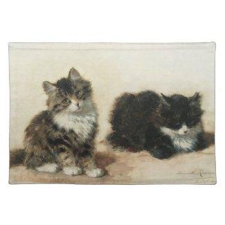 2匹の子猫 プレースマット