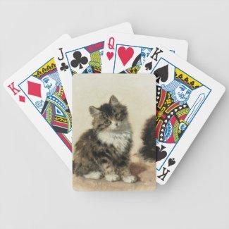 2匹の子猫 ポーカートランプ