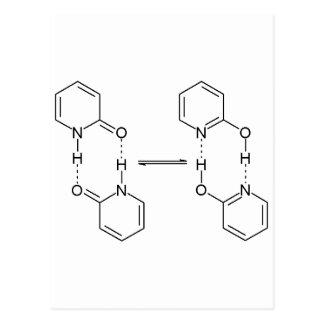 2-Pyridone化学薬品の二量体 ポストカード