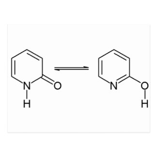 2-Pyridone化学薬品Tautomer ポストカード