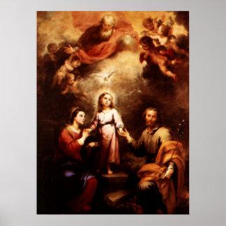 2 Trinities -神聖な家族- Murillo ポスター