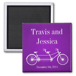 """2"""" x2""""好意の磁石のお洒落な紫色の二重バイク マグネット"""