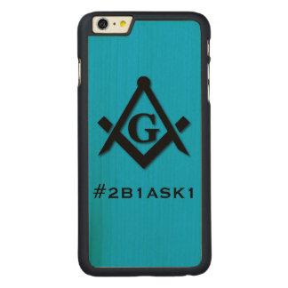 #2B1ASK1木製の電話箱 CarvedメープルiPhone 6 PLUS スリムケース