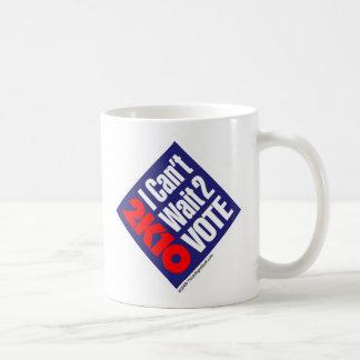 2K10 Iは2投票を待つことができません コーヒーマグカップ