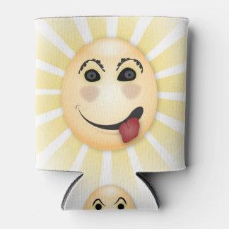 3つのおっちょこちょいのでおもしろいな顔及び日曜日光線のソーダクーラーボックス 缶クーラー