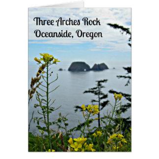 3つのアーチの石、オーシャンサイド、オレゴン カード