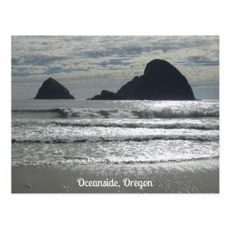 3つのアーチの石、オーシャンサイド、オレゴン ポストカード