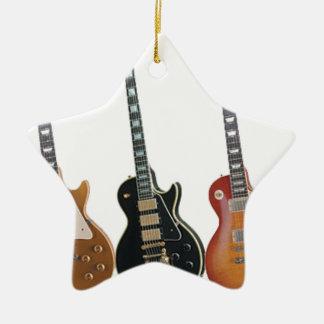 3つのエレキギター セラミックオーナメント