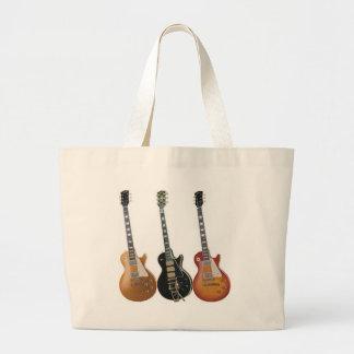 3つのエレキギター ラージトートバッグ