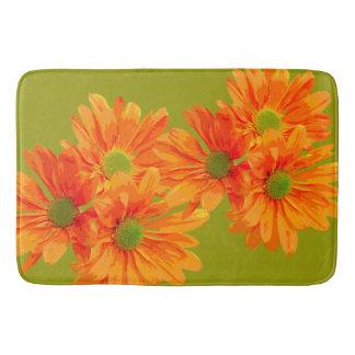 3つのガーベラのデイジーの花だけ + あなたのbackg。 及びアイディア バスマット