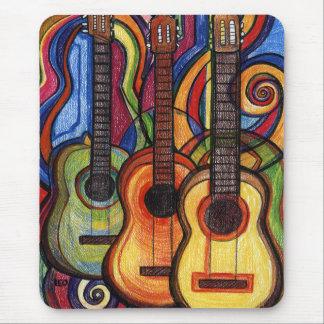 3つのギター マウスパッド