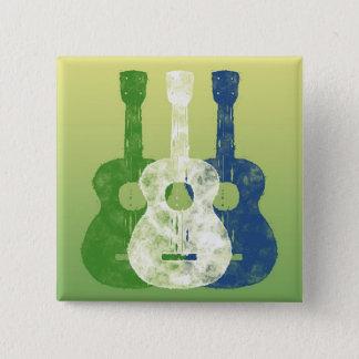 3つのギター 5.1CM 正方形バッジ