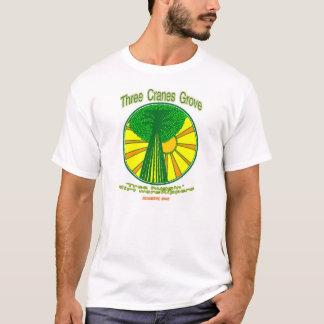 3つのクレーン果樹園-木のhuggers tシャツ