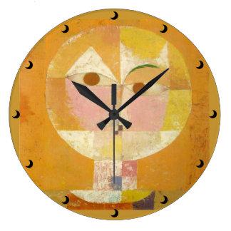 3つのサイズの人の行く老年性の時計の頭部 ラージ壁時計