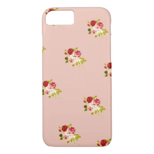 3つのバラのケース ピンク系 iPhone 8/7ケース