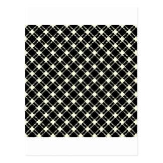 3つのバンド大きいダイヤモンド-黒のベージュ色 ポストカード