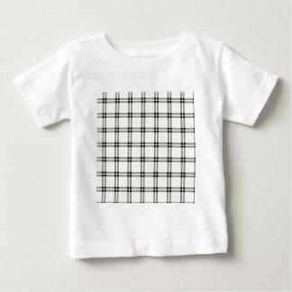 3つのバンド小さい正方形-ベージュ色の黒 ベビーTシャツ