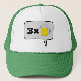 3つのビール吹き出しの帽子 キャップ