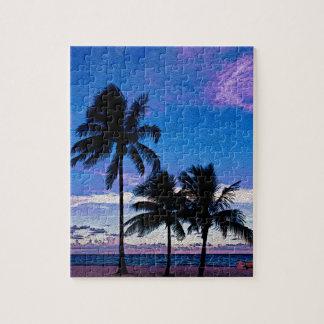 3つのヤシの木のハリウッドのビーチフロリダ ジグソーパズル