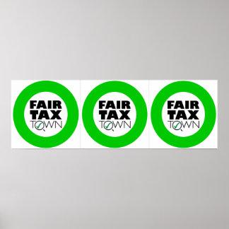 3つの公平な税の町ポスター12x12インチ ポスター