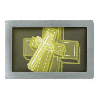 3つの十字… 長方形ベルトバックル