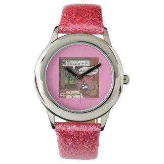 3つの小さい社会的な媒体の精通したブタの女性用腕時計 腕時計
