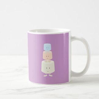 3つの微笑のマシュマロ コーヒーマグカップ
