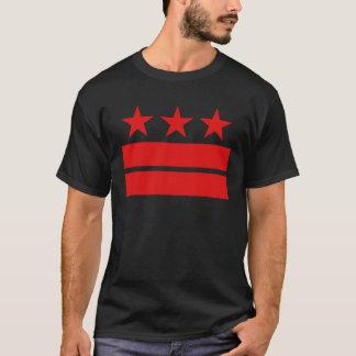 3つの星および黒いTシャツ2つのバーの Tシャツ