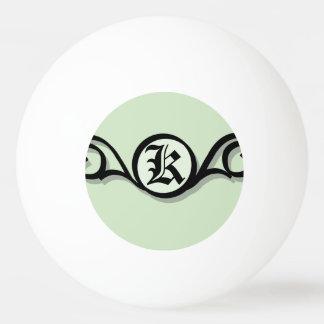 3つの星のIRONWORK SCROLLWORK 1 卓球ボール