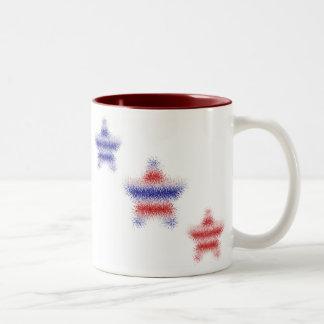3つの星条旗のマグ ツートーンマグカップ