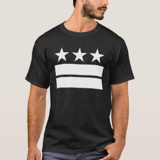 3つの星黒いTシャツ2つのバーの Tシャツ