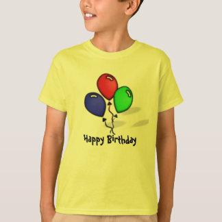 3つの気球のハッピーバースデー Tシャツ