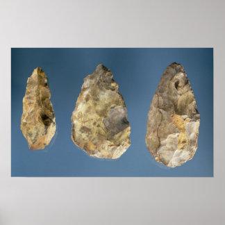 3つの燧石用具 ポスター