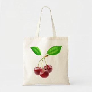 3つの甘いさくらんぼが付いているバッグ トートバッグ