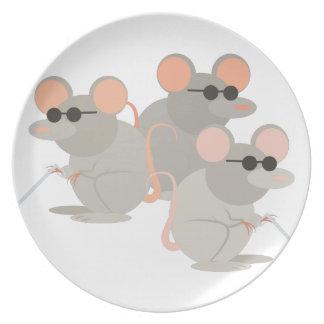 3つの盲目のネズミ プレート