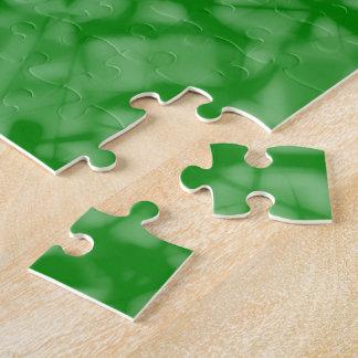 3つの緑の黄色のキリスト教の十字のカルヴァリー ジグソーパズル