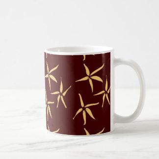 3つの花-白 コーヒーマグカップ