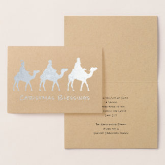 3つの賢者の星学者のクリスマスの恵みホイルカード 箔カード