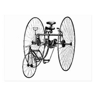 3つの車輪の自転車の三輪車 ポストカード