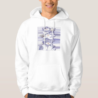 3つの雪だるま-基本的なフード付きのスエットシャツ パーカ