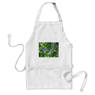 3つの青オダマキ(植物)の花 スタンダードエプロン