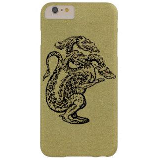 3つの頭部が付いている金ドラゴン BARELY THERE iPhone 6 PLUS ケース