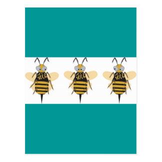 3つの《昆虫》マルハナバチ ポストカード