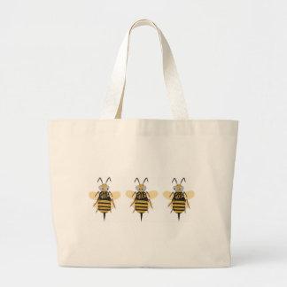 3つの《昆虫》マルハナバチ ラージトートバッグ