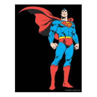 3つを提起しているスーパーマン ポストカード