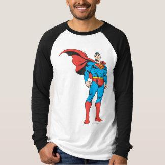 3つを提起しているスーパーマン Tシャツ