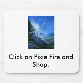 3つを放し、妖精の火をつけ、そして買物をして下さい マウスパッド
