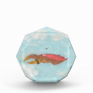 3つを飛ばすことは赤い岬、Superslothとの怠惰をつま先で触ました 表彰盾