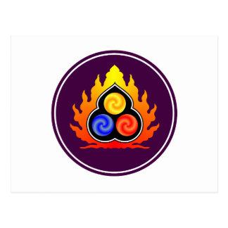 3つ石-道教/タオTe Ching/ラオス語Tzu ポストカード
